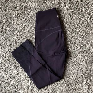 LULULEMON BARELY WORN SPECIAL EDITION PURPLE CROPS